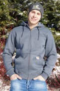 Carhartt Sweat-Jacke mit Kapuze