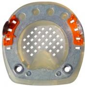 Standard STS mit Seitenkappen, M8-Gewinde, ringförmigem Metallkern und Gittersohle - rund - 110mm - Auslaufmodell (ohne Rückgaberecht)