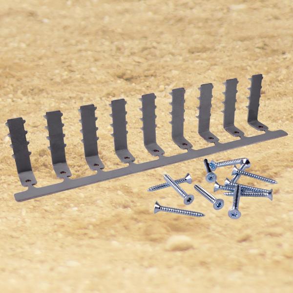 Barre Résine avec 9 crochets et 10 vis (Article de Duplo Innovations - prix de lancement réduit)