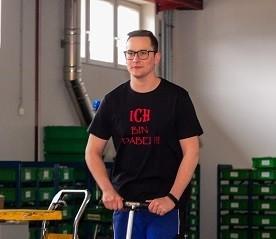 """T-Shirt """"Duplo Innovations"""" (Herren) - schwarz - S"""